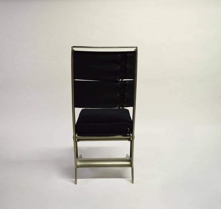 Pair of Jean Prouvé Folding Chairs Designed 1930, Manufactured by Tecta 1983 6