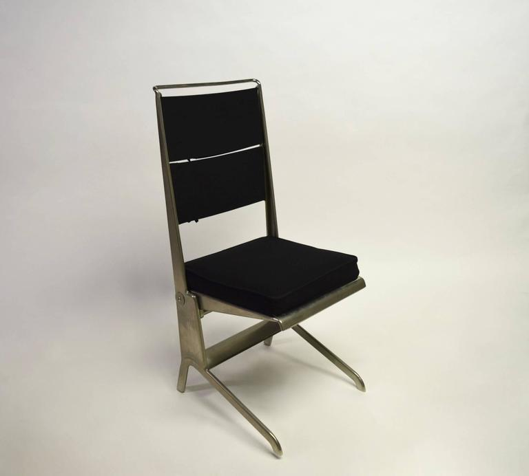 Pair of Jean Prouvé Folding Chairs Designed 1930, Manufactured by Tecta 1983 8