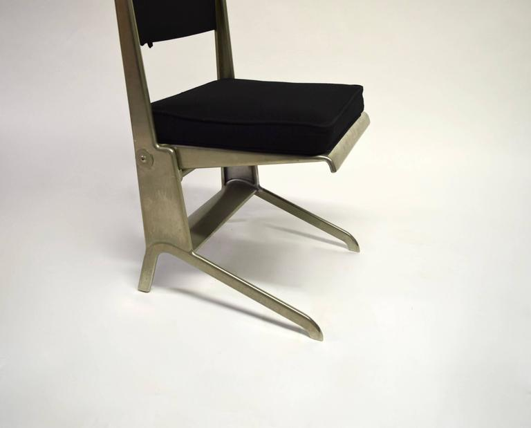 Pair of Jean Prouvé Folding Chairs Designed 1930, Manufactured by Tecta 1983 9