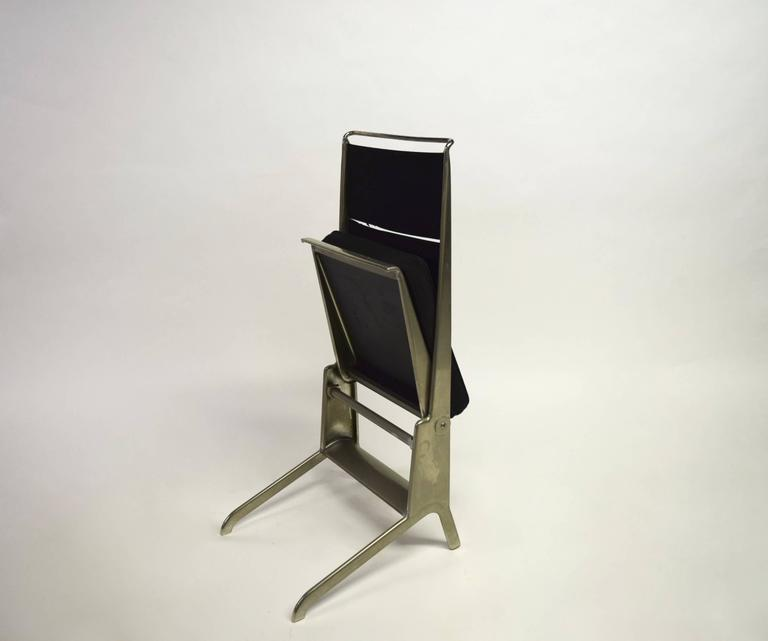 Pair of Jean Prouvé Folding Chairs Designed 1930, Manufactured by Tecta 1983 3