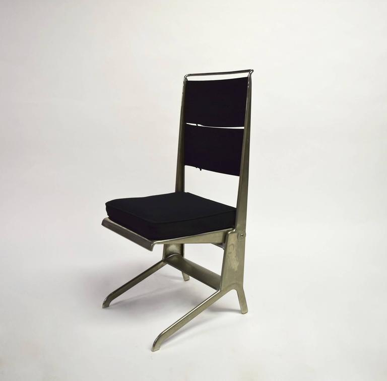 Exceptionnel Jean Prouvé Designed Chairs Have A Nickel Plated Steel Frame Utilizing His