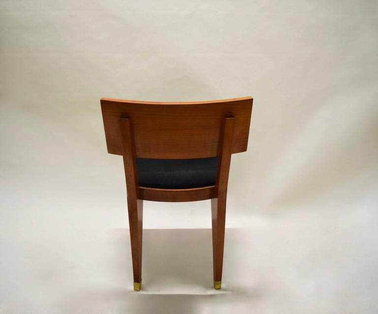 Mid-20th Century Four Fruitwood Dining Chairs, France Circa 1950 For Sale