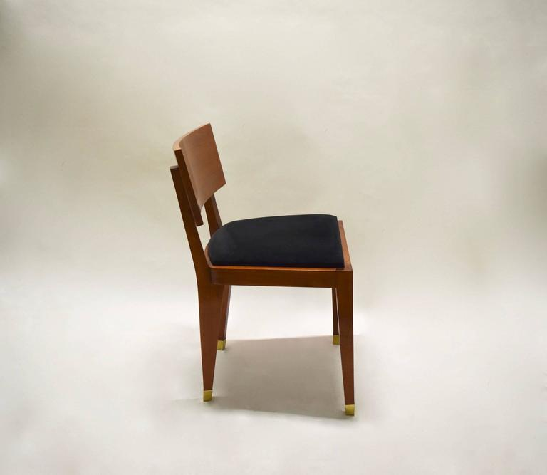 Four Fruitwood Dining Chairs, France Circa 1950 For Sale 2