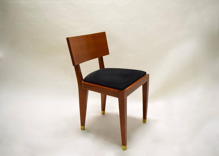 Four Fruitwood Dining Chairs, France Circa 1950 For Sale 3