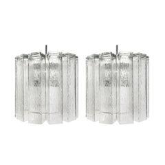 Pair of Doria Ice Glass Chandeliers