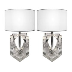 Pair of Acrylic Cutout Lamps
