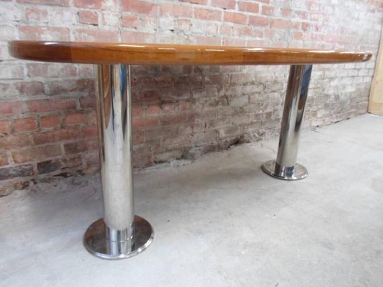 Mahogany Fly Deck Table from Wolf of Wall Street Yacht Set For Sale