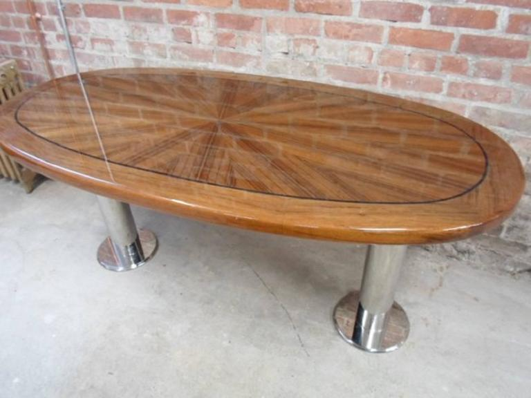 American Mahogany Fly Deck Table From Wolf Of Wall Street Yacht Set For