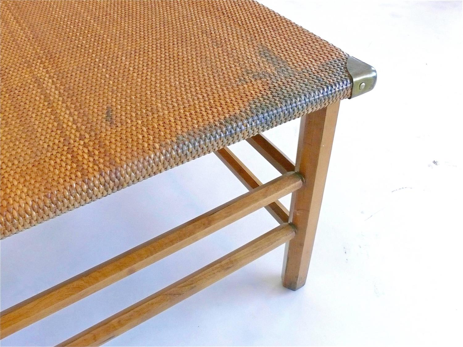 Wicker chaise longue for sale at 1stdibs for Chaise longue rattan