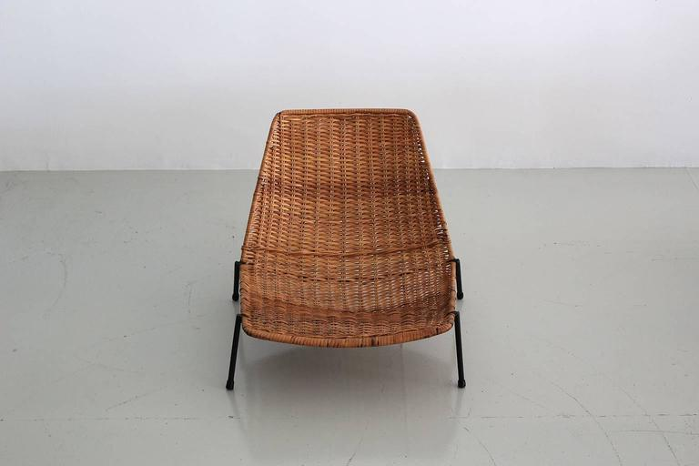 Mid-20th Century Woven Wicker Pool Chairs  For Sale