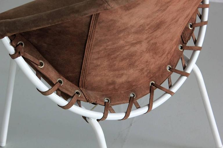 Suede Austrian Scoop Chair For Sale
