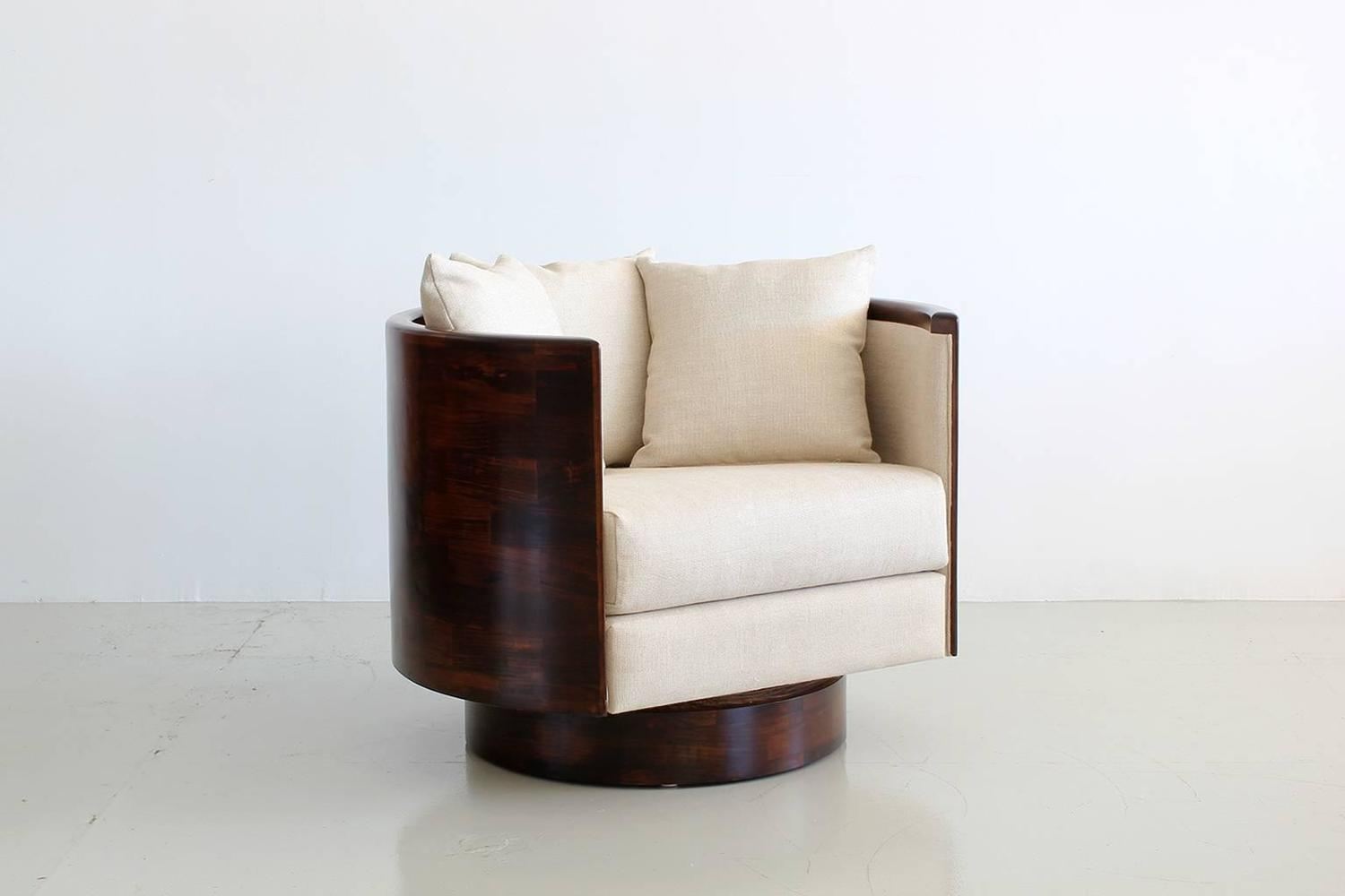 Barrel Back Swivel Chair For Sale At 1stdibs