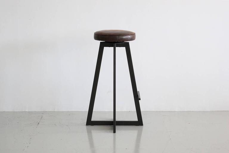 """American Iron """"T"""" Barstool For Sale"""
