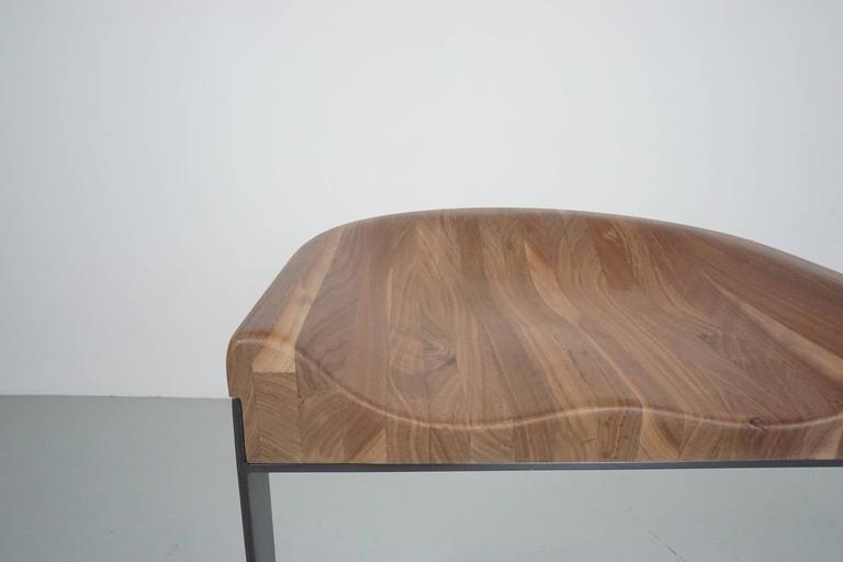 Walnut Saddle Stools 8