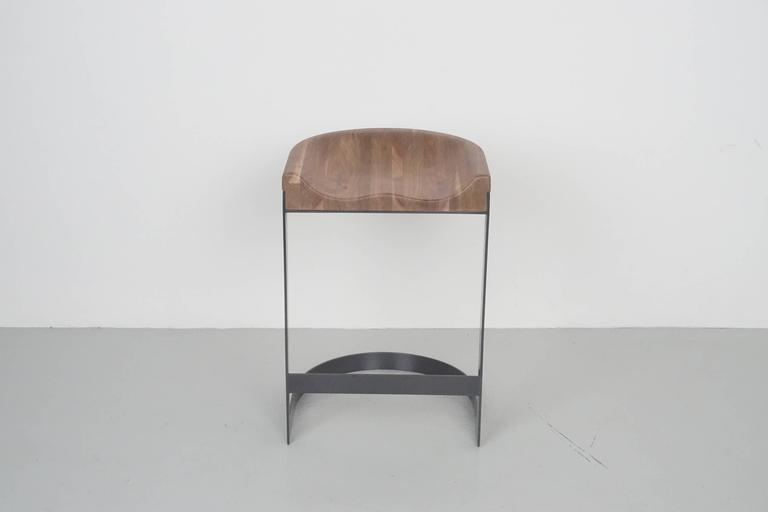 Walnut Saddle Stools 7