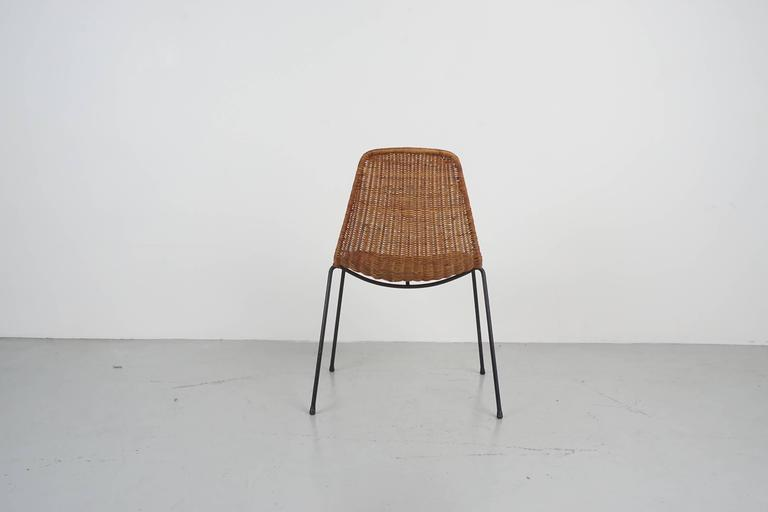 Iron Carlo Graffi & Franco Campo Dining Chairs For Sale