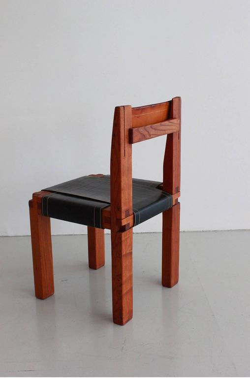 Mid-20th Century Pair of Chairs by Pierre Chapo For Sale