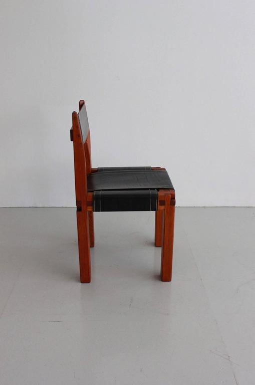 Pair of Chairs by Pierre Chapo In Excellent Condition For Sale In Los Angeles, CA