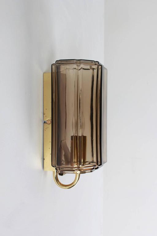 Austrian Smoked Brown Glass Sconces For Sale 1