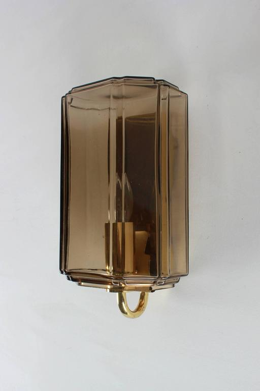 Austrian Smoked Brown Glass Sconces For Sale 2