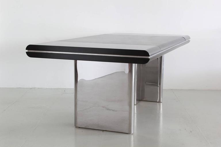 Stainless Steel Hans Von Klier Desk for Skipper For Sale
