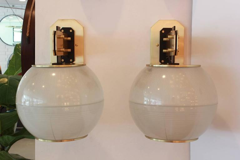 Brass Sconces in the Style of Gardella For Sale