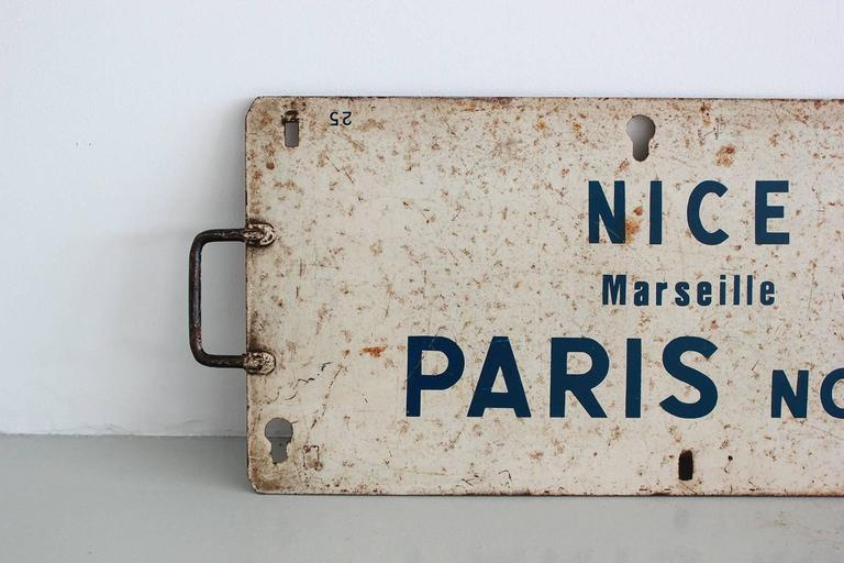 Vintage French Sign In Excellent Condition For Sale In Los Angeles, CA