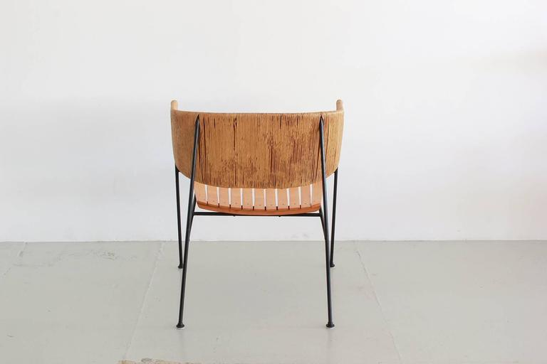 Rare set of lounge chairs by Arthur Umanoff. Fantastic sculptural shape and patina.