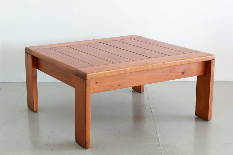 Pine Charlotte Perriand Coffee Table For Sale