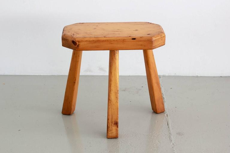 French Perriand Style Stools In Excellent Condition For Sale In Los Angeles, CA