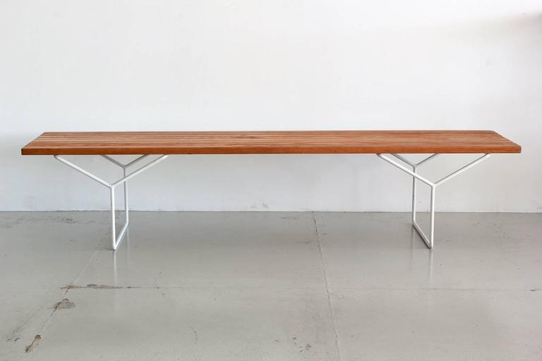 Harry Bertoia Bench For Knoll At 1stdibs