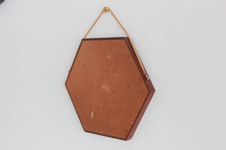 Danish Hexagonal Mirror 4