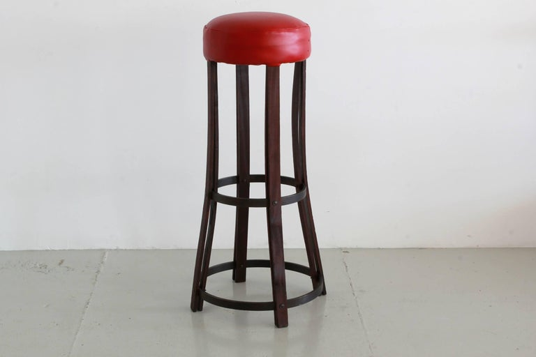 Italian Bar Stools In Excellent Condition For Sale In Los Angeles, CA
