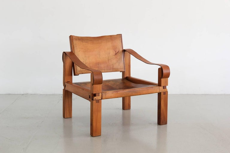 Leather Chair by Pierre Chapo 2