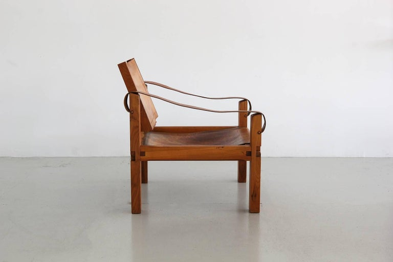 Leather Chair by Pierre Chapo 3