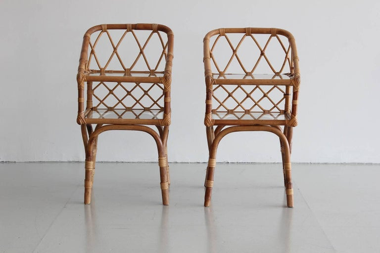 French Rattan End Tables 2