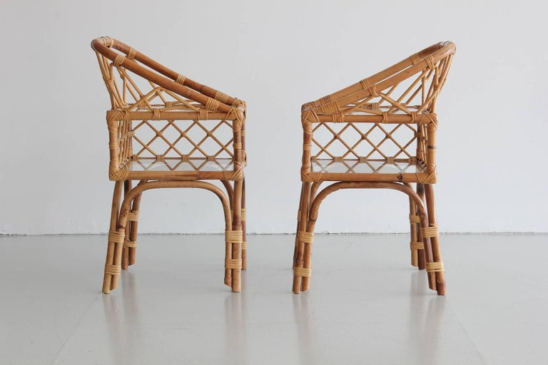 French Rattan End Tables 3