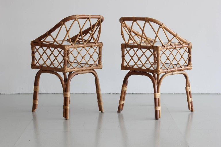 French Rattan End Tables 4
