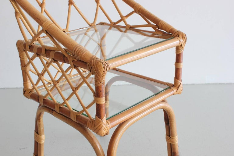 French Rattan End Tables 6
