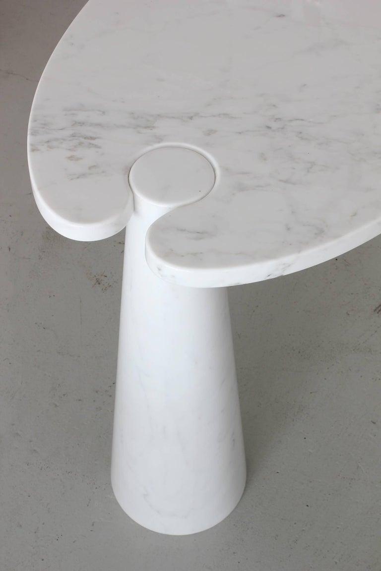Italian Angelo Mangiarotti Eros Series Marble Console For Sale