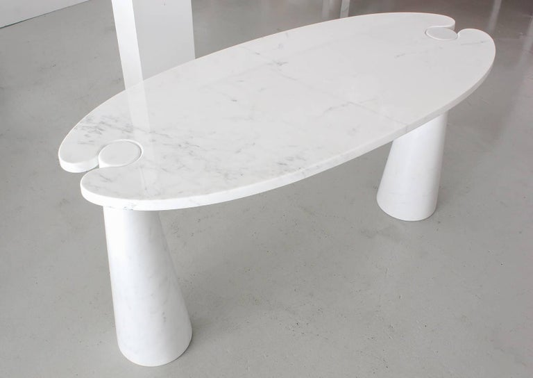 Mid-20th Century Angelo Mangiarotti Eros Series Marble Console For Sale