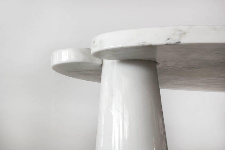 Angelo Mangiarotti Eros Series Marble Console For Sale 1
