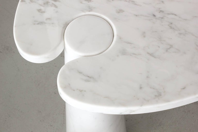 Angelo Mangiarotti Eros Series Marble Console For Sale 2