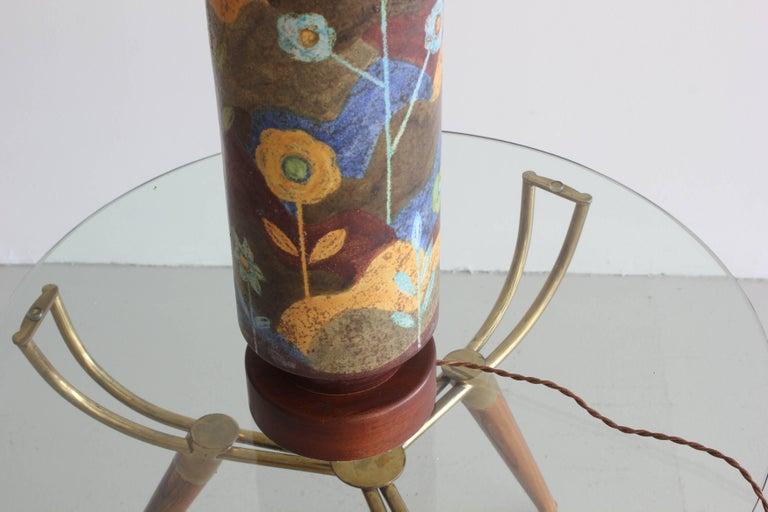 Mid-Century Modern Raymor Ceramic Lamp For Sale