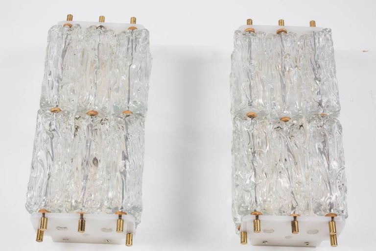 Pair of Large Kalmar Sconces In Excellent Condition For Sale In Los Angeles, CA