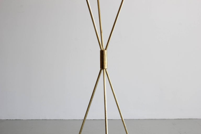 Three-Light Tripod Stilnovo Style Floor Lamp For Sale 1
