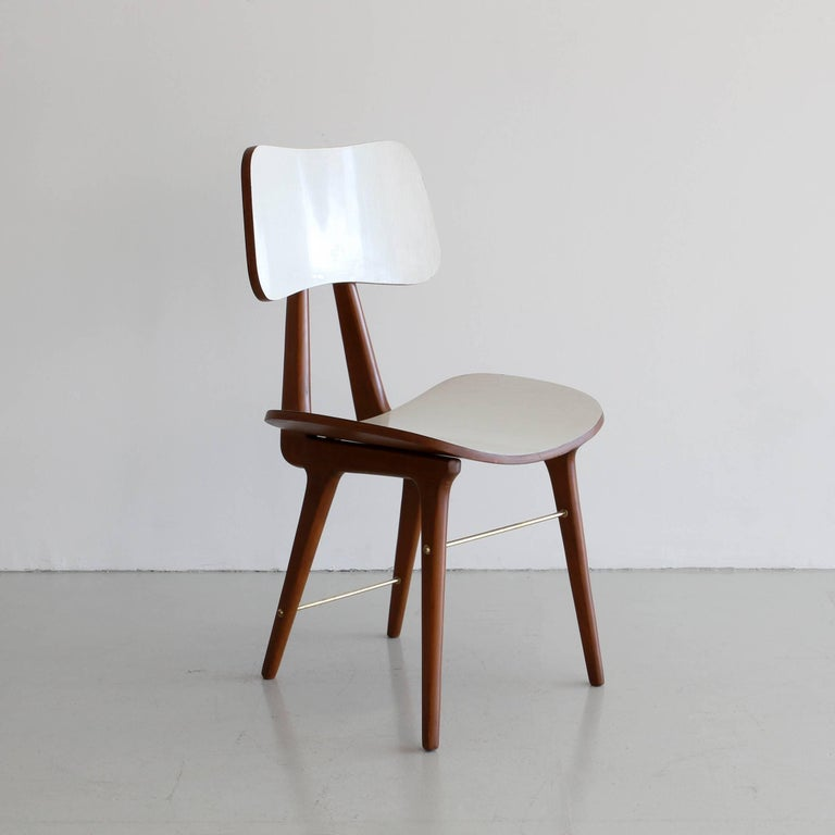 Mid-20th Century Set of Four Italian Dining Chairs For Sale