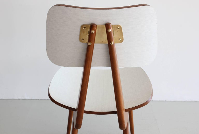 Set of Four Italian Dining Chairs For Sale 5