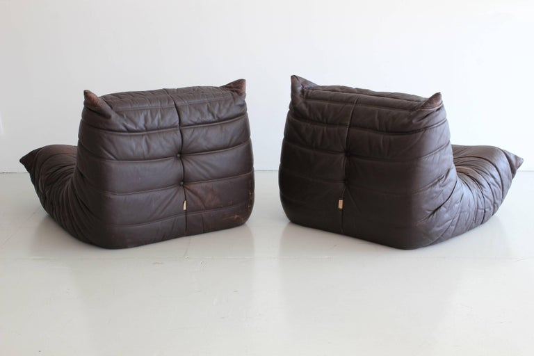 """""""Togo"""" Lounge Chairs and Ottoman by Michel Ducaroy For Sale 1"""