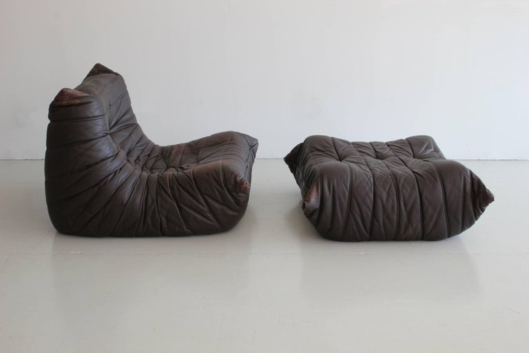 Amazing leather chair with matching ottoman from the